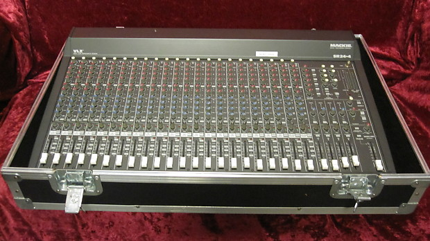 mackie sr24 4 vlz 24 channel mixing board with flight case reverb. Black Bedroom Furniture Sets. Home Design Ideas