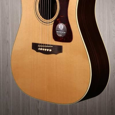 Guild D-50CE Acoustic Electric Guitar with Hardshell Case (Natural for sale