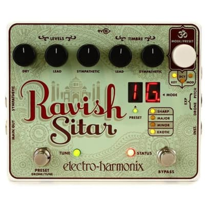 Electro Harmonix Ravish Sitar Emulator Pedal for sale
