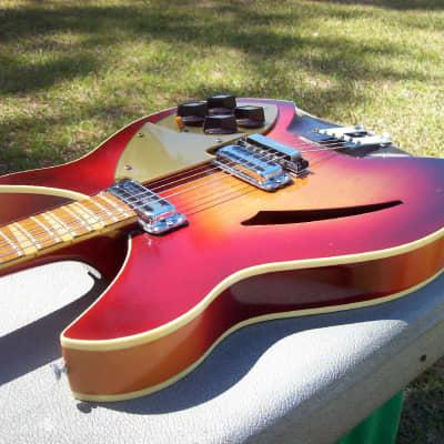 Stunning Condition Rickenbacker 1959 360 Capri Fireglo w/ original case!