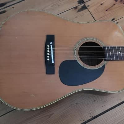 Tarada W615 Dreadnought Acoustic Guitar Made in Japan 1970s Roadworn for sale