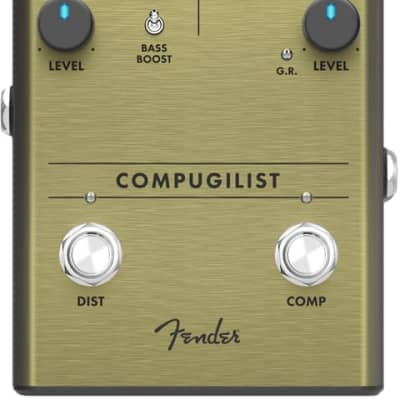 Fender Compugilist Compressor/Distortion Analog Guitar Effects Stomp Box Pedal for sale