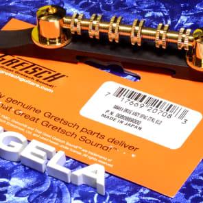 Genuine Gretsch Space Control Bridge Assembly, Gold With Ebony Base, 0484GA 0060889000