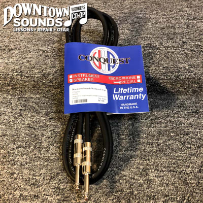 "Conquest 6' 14 Gauge Speaker Cable 1/4"" - Lifetime Warranty!"
