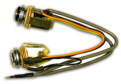 Rickenbacker Rick-O-Sound Wiring Harness Assembly With Double Jacks 00211