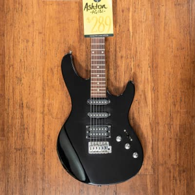 Ashton AG131 Black electric guitar with hard case for sale