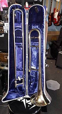 Silvertone Trombone Made in Indiana ? gold laquer