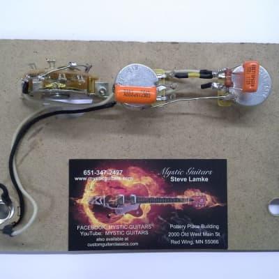 tele style guitar wiring kit w/reverse mount 3 way switch/free usa shipping
