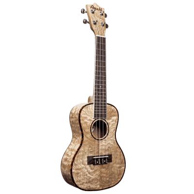 Amahi UK880C Classic Series Quilted Ash Concert Ukulele (w/ Gig Bag, Strap, & Pick)