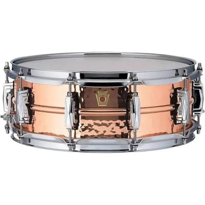 "Ludwig LC660K Hammered Copper Phonic 5x14"" Snare Drum"