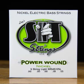 SIT NR545125L Power Wound Nickel 5-String Electric Bass Strings - Light (45-125)