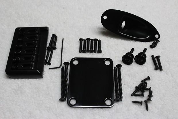 New Hardtail Black Guitar Body Hardware Set