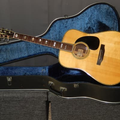 MADE IN JAPAN 1976 - RIDER R500D - ABSOLUTELY AMAZING D45 STYLE ACOUSTIC GUITAR for sale