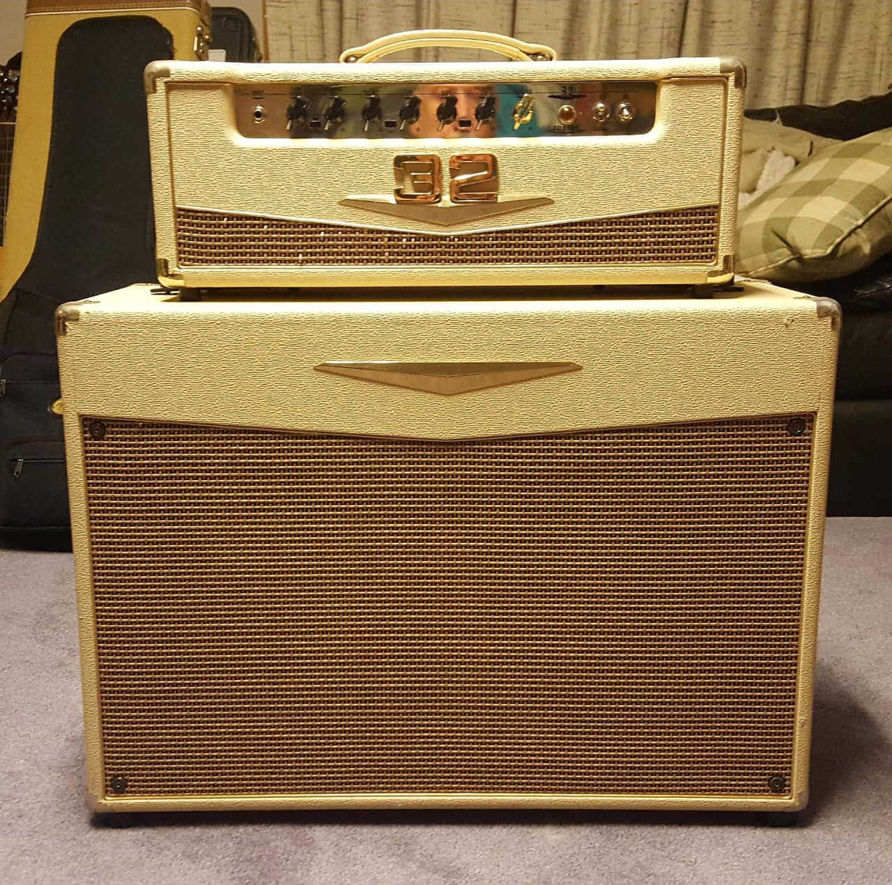 Crate Palomino V32 Head Amp 2x12 Half Stack Cabinet Reverb