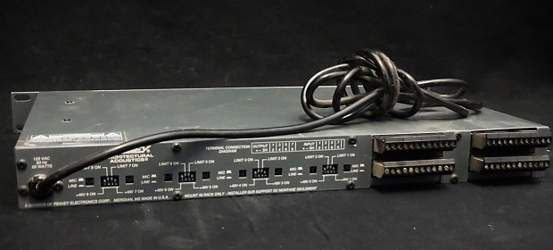 peavey architectural acoustics aa 8p 8 channel rack mount reverb