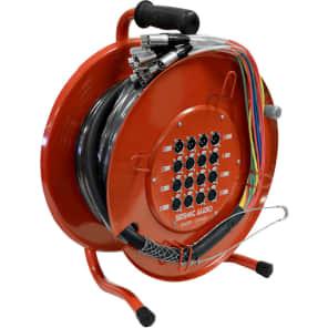 Seismic Audio SAOR-12x4x50 12-Channel XLR Snake Cable On a Reel w/ (4x) XLR Returns - 50'