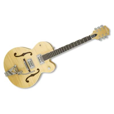 Gretsch Guitars G6120SH-BLND-DIS PLAYMODEL Brian Setzer Blonde Hot Rod Hollow Body Electric Guitar, Blonde image