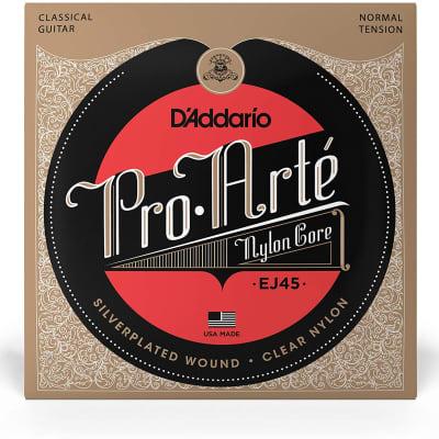 D'Addario #EJ45 - Pro Arte Nylon Core Classical Strings, Normal Tension, Silverplated 28-43