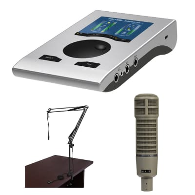 RME Babyface Pro FS 24-Channel Audio Interface with Electro-Voice RE20 Broadcast Microphone & Boom Arm Bundle