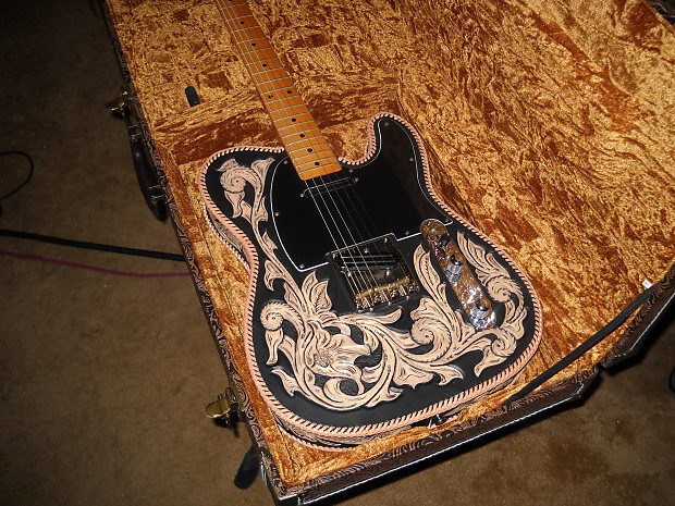 Swell Fender Scarecrow Guitars Custom Handtooled Leather Wrapped Reverb Wiring Digital Resources Cettecompassionincorg