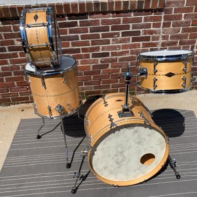 Craviotto drum set autographed 4 drums 20 12 14 + snare excellent HARD TO find !