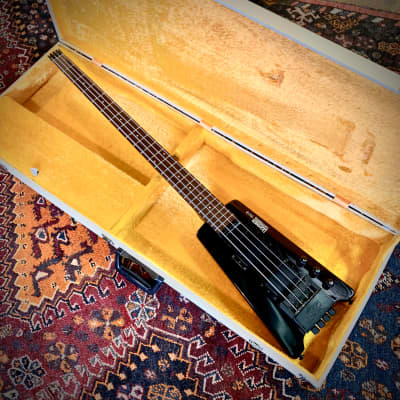 Hohner Steinberger bass guitar b2b c 1980's Noir original vintage mij japan headless for sale