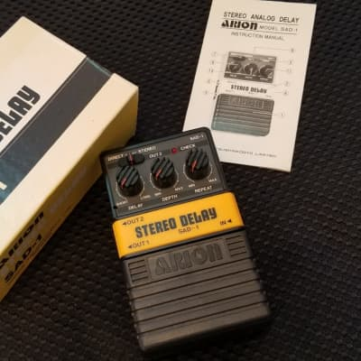Arion SAD-1 Stereo Delay Japan  Yellow/Black for sale