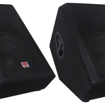 "(2) Rockville RSM15A 15"" 2-Way Powered Active Floor Monitor Speakers 2800 Watts"