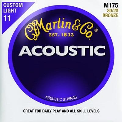 Martin 80/20 Acoustic Strings Bronze Custom Light  11 - 52 for sale