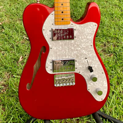 Fender American Vintage Thinline '72 Telecaster  2010 Candy Apple Red for sale
