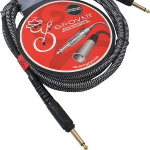 Cable - Grover, Instrument, Noiseless, Braided, Gold-Plated Plug, Length: 10 feet for sale