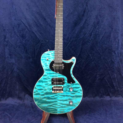 PJD Guitars Carey Custom in Sea Blue Gloss with Cream T Pickups for sale
