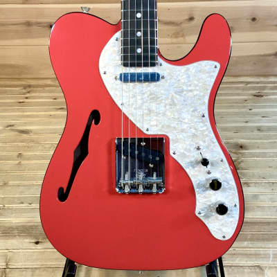 Fender 2019 LTD Two-Tone Thinline Telecaster Electric Guitar - Fiesta Red
