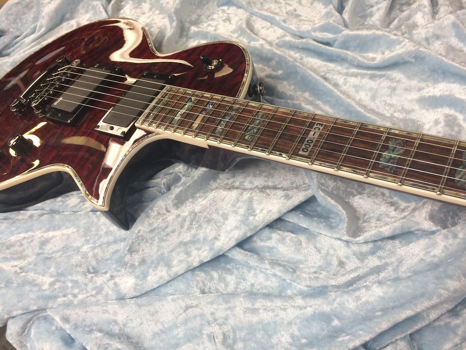 ESP LTD EC-1000QM, Transparent Black Cherry