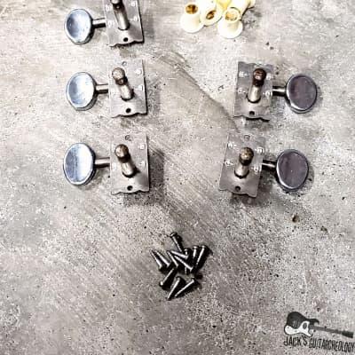 "RARE Teisco / Silvertone / Matsumoku Del Rey Sharkfin ""4 x 2"" Tuners - Full Set (1960s)"