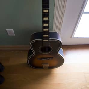 Old Kraftsman Sunburst Parlor Guitar for sale
