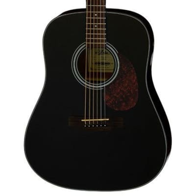 Aria ADW-01 Series Dreadnought Acoustic Guitar in Black for sale