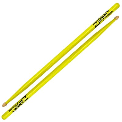 Zildjian 5A Acorn Wood Tip, Neon Yellow