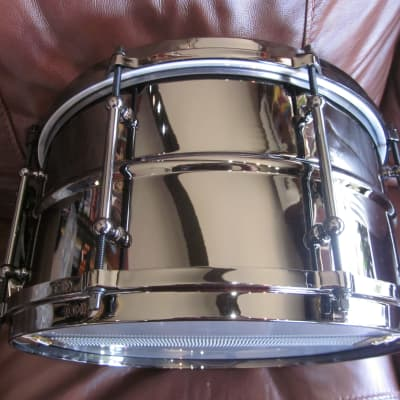 """Ludwig LW0713 Black Magic 7"""" x 13"""" Brass Snare Drum Autographed by Corey Miller"""