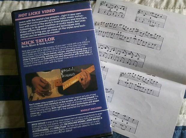 Mick Taylor Hot Licks Rock Blues Slide Guitar Reverb