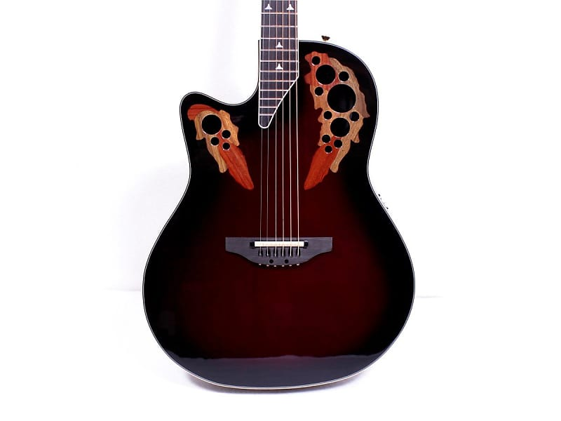Ovation L778AX-BCB Elite Cherry Burst Left Hand Acoustic Electric Guitar w/ Case image