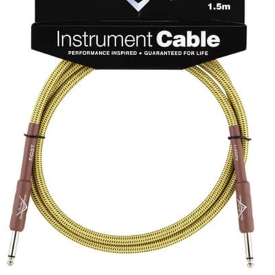Fender Custom Shop Performance Series 5ft Instrument Cable - Tweed for sale