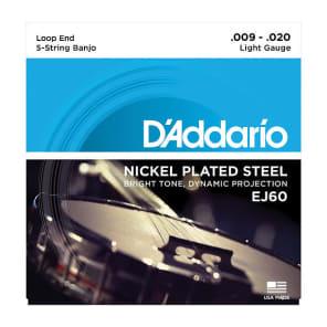 D'Addario EJ60 5-String Nickel Light Banjo Strings
