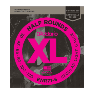 D'addario ENR71-6 Half Rounds Bass Strings