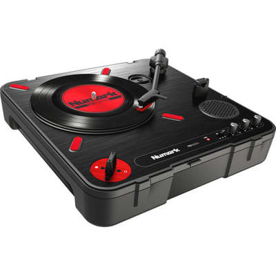 Numark PT01 Scratch - Portable Turntable with DJ Scratch Switch Speaker, & Carrying Handle