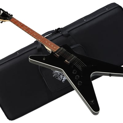 DEAN MLX LEFT-HANDED Classic Black electric GUITAR new w/ CASE- Lefty - ML X CBK for sale