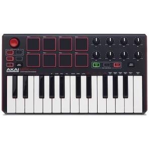Akai MPK mini MKII USB Keyboard Controller, 25-Key, Black