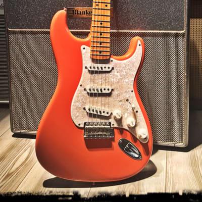 Fender  Stratocaster  2004 California beach 1957 reissue sunset custom shop limited edition sunset orange for sale