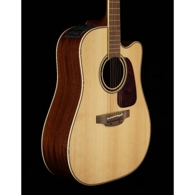 Takamine P4DC Dreadnought Acoustic Electric w/Venetian Cutaway, Natural for sale