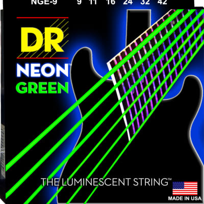 DR Strings Neon HiDef Green Light Electric Guitar Strings